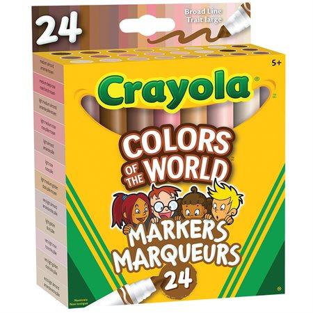 Crayons Couleurs du monde marqueurs