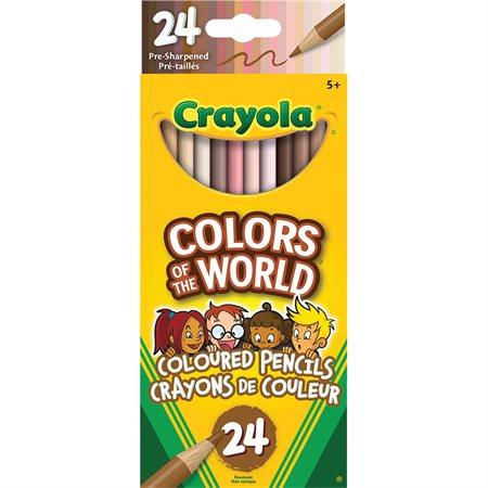 Crayons Couleurs du monde crayons de bois