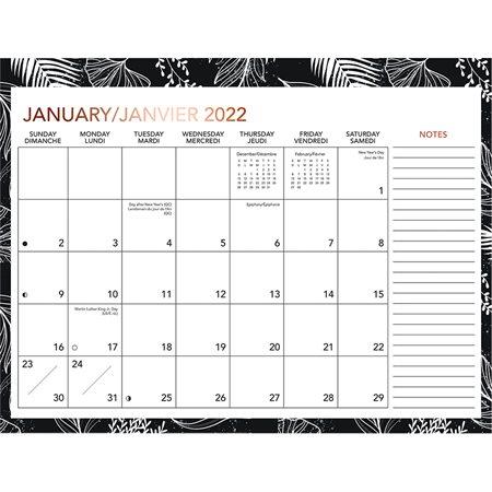 Calendrier planificateur familial mensuel (2022)