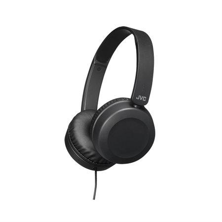Casque d'écoute pliable aux oreillettes pivotantes